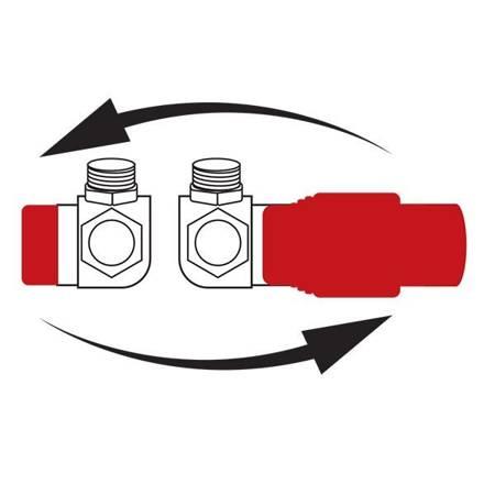 Ferro zestaw termostatyczny osiowy kątowy biały ZTO30WH