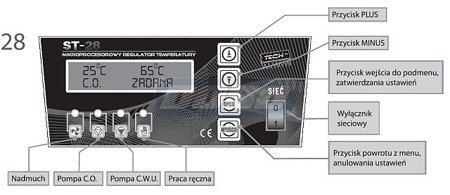 Sterownik kotła CO regulator TECH ST-28