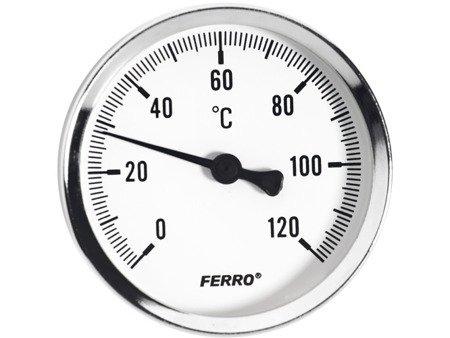 TERMOMETR TARCZOWY DO C.O. 1/2 63MM 120'C FERRO